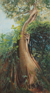 Giant in Wingham Brush SOLD Major Prize, Taree Open Art Exhibition