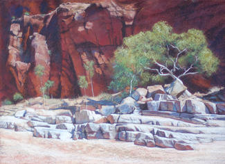 Glen Annie Gorge, NT. 60 x 44 cm SOLD