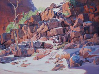 Reflection on Rocks - Ruby Gap NT. SOLD