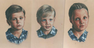 Portraits of three siblings SOLD
